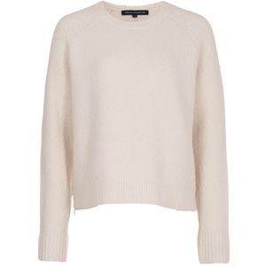 French Connection RSVP Now ZipDetail Cream Sweater